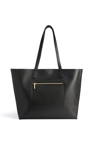Black Shopper Tote