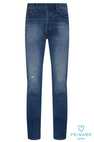 Blue Straight Leg Sustainable Cotton Jeans