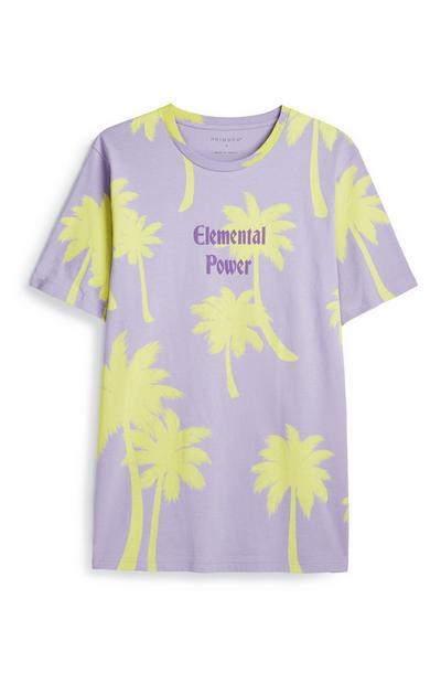 Lilac Palm Tree T-Shirt