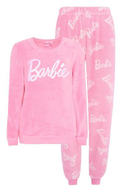 Cosy Pink Barbie Pyjamas 2Pc