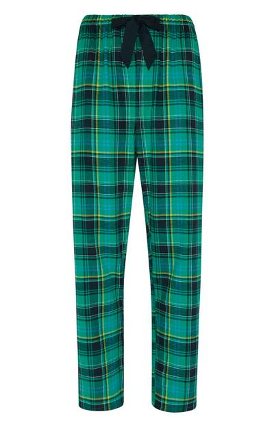 Green Flannel Pj Trouser