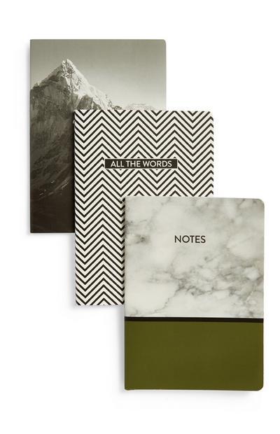 A6 Notebook 3PK