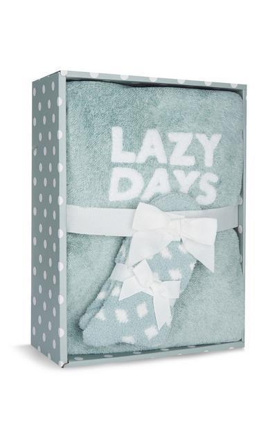 Green Lazy Days Pyjama Gift Box