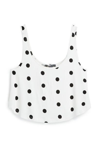 White Polka Dot T-Shirt