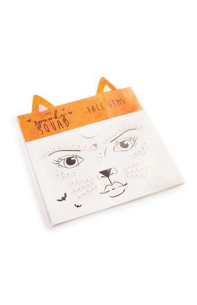 Halloween Cat Face Gems