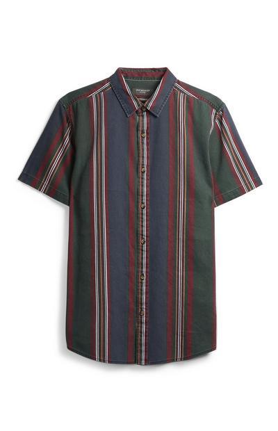 Marineblau gestreiftes Hemd