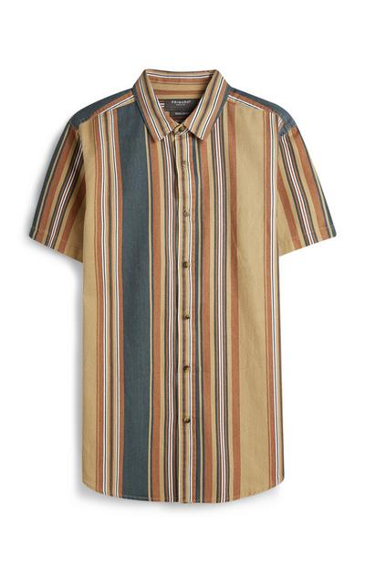 Brown Stripe Shirt