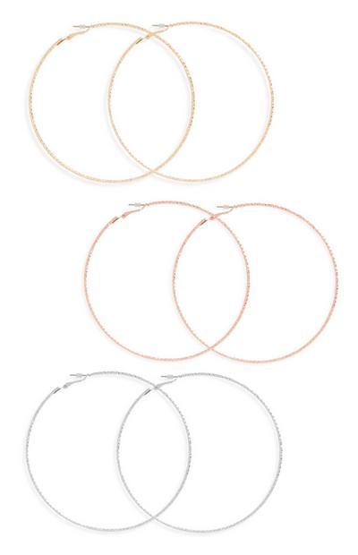 Large  Hoop Earring 3Pk