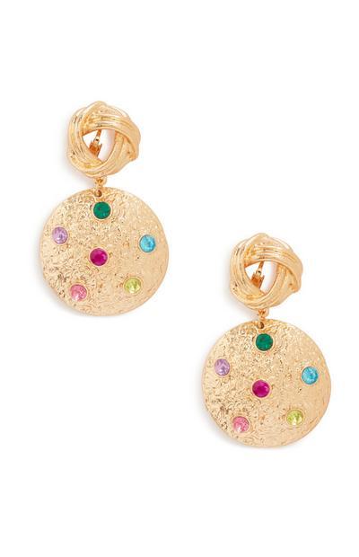 Colour Gem Drop Earrings