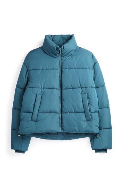 Teal Puffer Coat