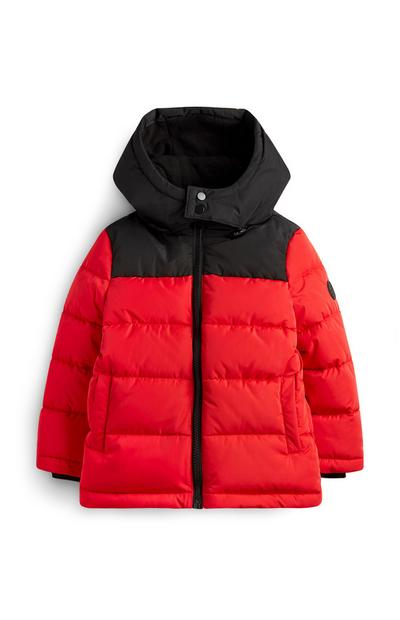 Younger Boy Red Padded Jacket