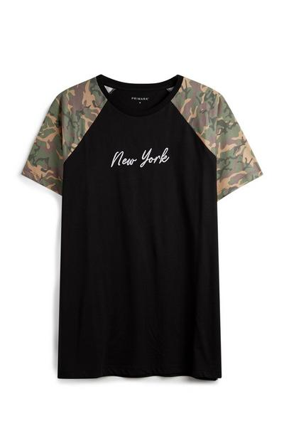 Black Camo Sleeve T-Shirt
