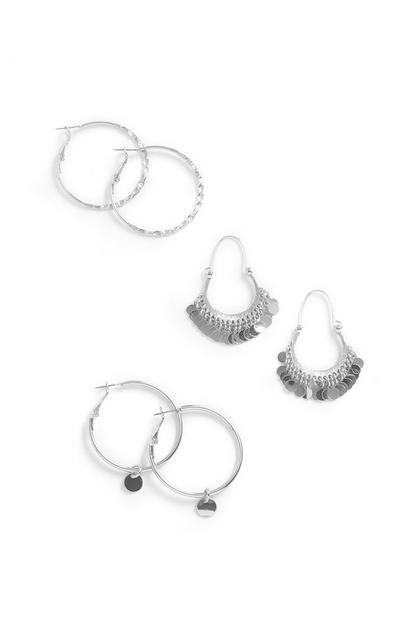 Hoop Earrings 3Pk