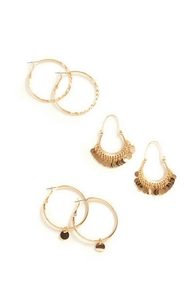 Hoop Earrings 3Pk