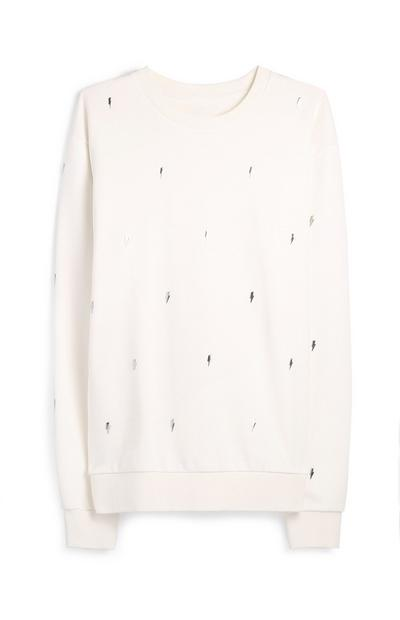 White Lightning Bolt Jumper
