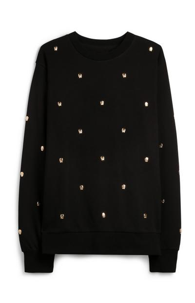 Black Skull Jumper