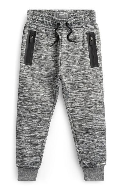 Younger Boy Textured Joggers