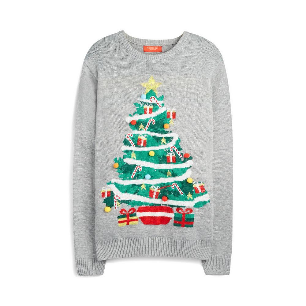 molto carino ce9fe df6bd Maglione grigio con albero di Natale che si illumina ...