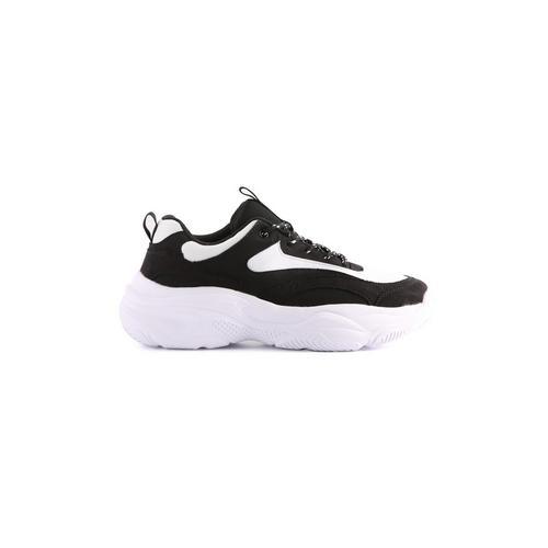 Genießen Sie kostenlosen Versand Vielzahl von Designs und Farben Neueste Mode Schwarz-weiße Sportschuhe mit dicker Sohle   Sneaker ...
