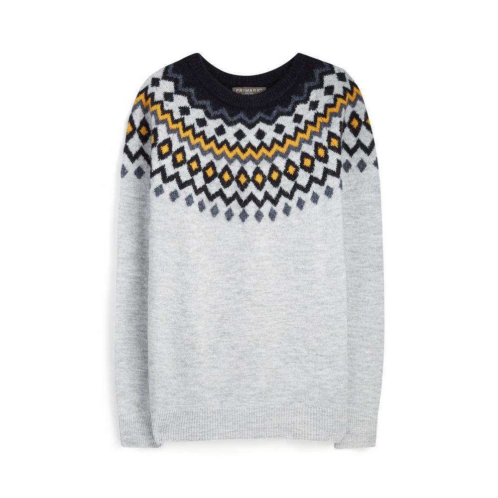 super popular 06d6f f1e3d Grauer Pullover mit Norwegermuster | Pullover und Sweater ...
