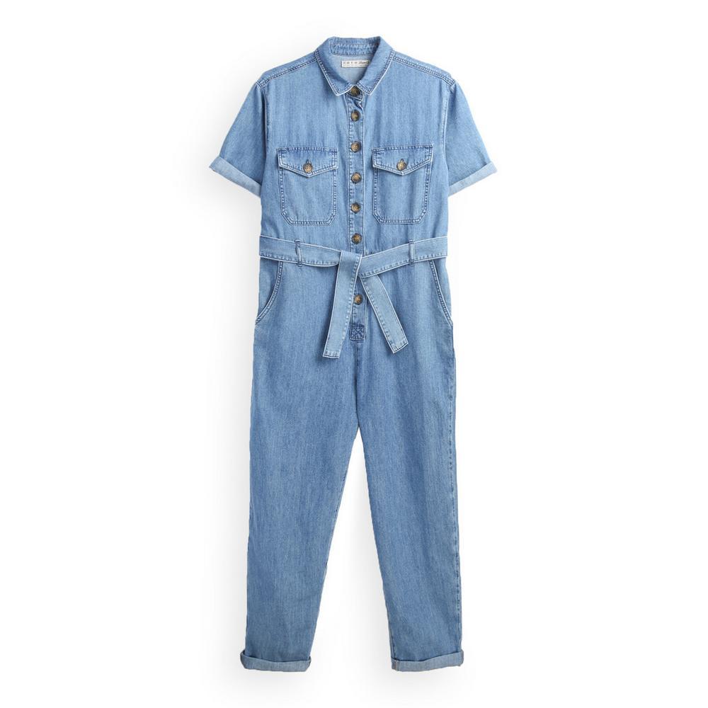 design intemporel 7ba7d 71a1c Combinaison bleue à ceinture | Combinaisons et salopettes ...