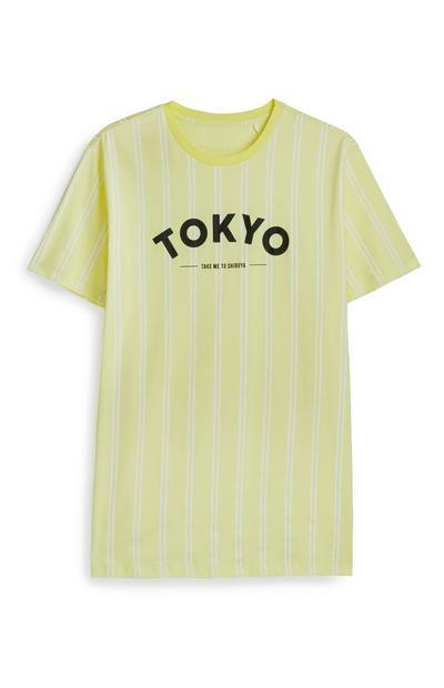 Yellow Tokyo Striped T-Shirt