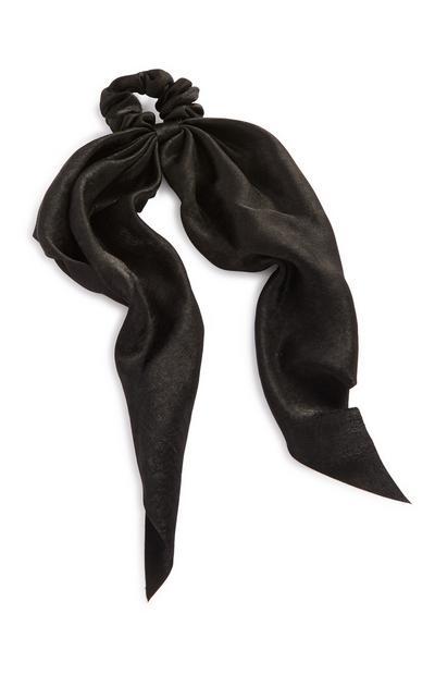 Black Silk Tie Hair Band
