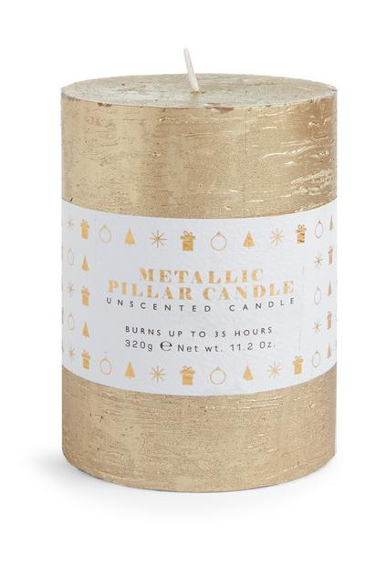 Gold Metallic Candle