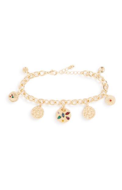 Colour Gem Charm Bracelet