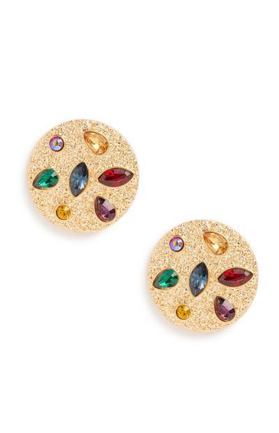Colour Gem Stud Earring