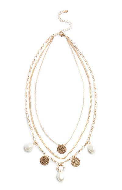 Mehrreihige Halskette mit Perlen