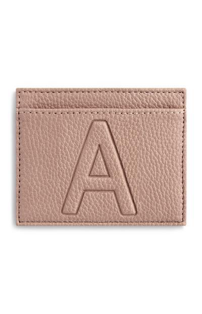Letter A Card Holder