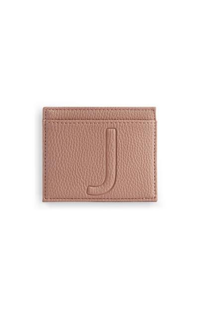 Letter J Cardholder