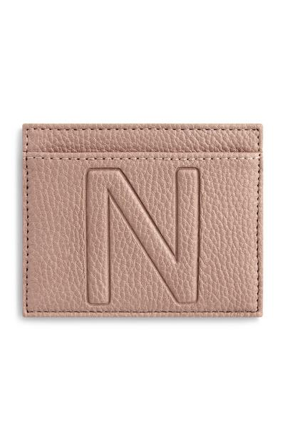 Letter N Card Holder