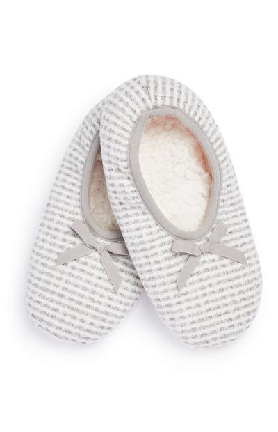 Grey Waffle Slipper Socks