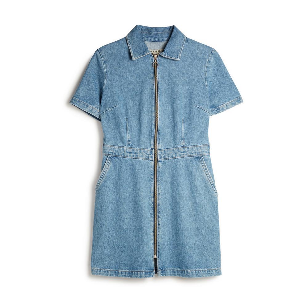 9e75f671e8b Denim Zip Up Dress | Dresses | Womens | Categories | Primark Ireland