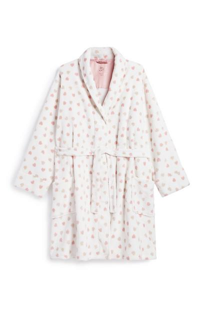 Heart Print Dressing Gown