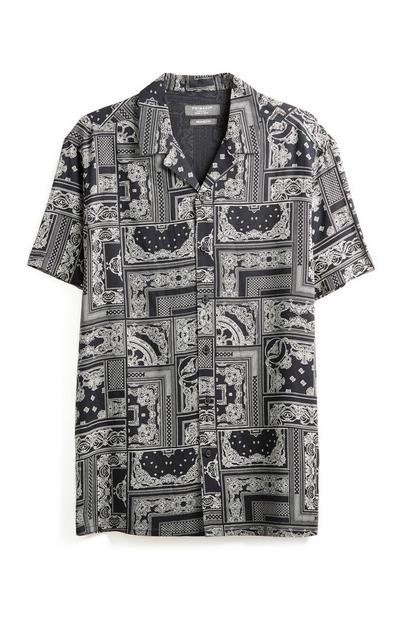 Black Patchwork T-Shirt
