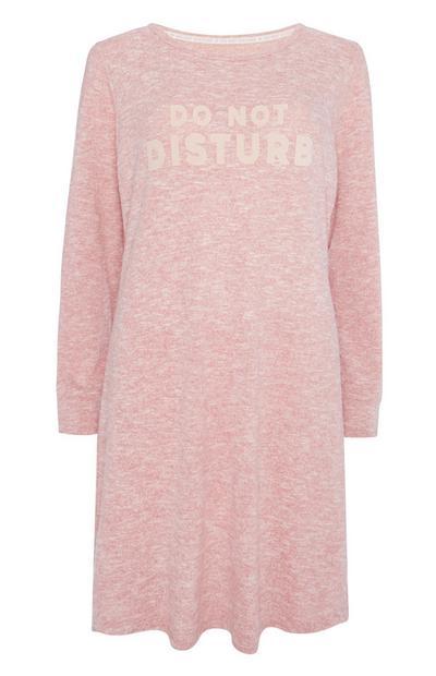 Pink Slogan Night Dress