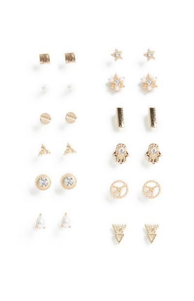 Stud Earrings 12Pk