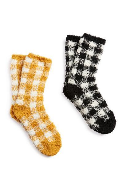 Cosy Checked Socks