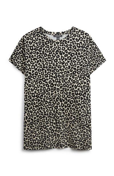 Oversized Leopard T-Shirt