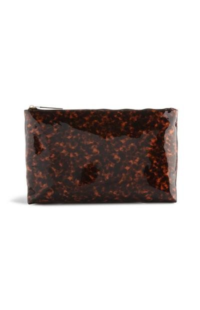 Brown Tortoise Shell Make-Up Bag