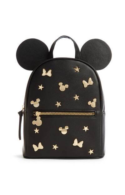 Black Studded Mickey Mouse Backpack