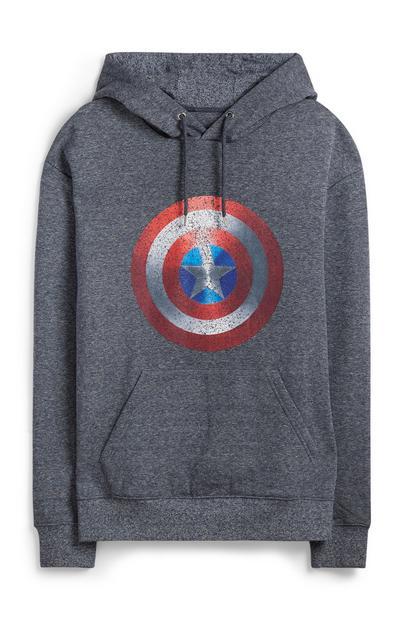 Grey Captain America Hoodie