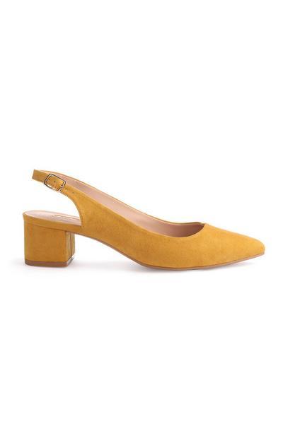 Mustard Slingback Court Shoe