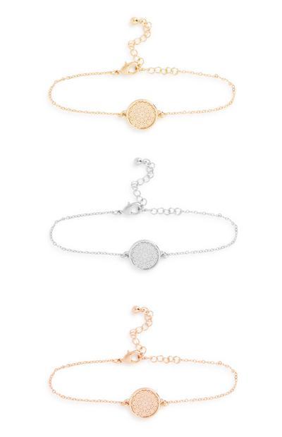 Armbänder mit Amuletten, 3er-Pack
