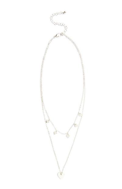 Love Heart Layer Necklace