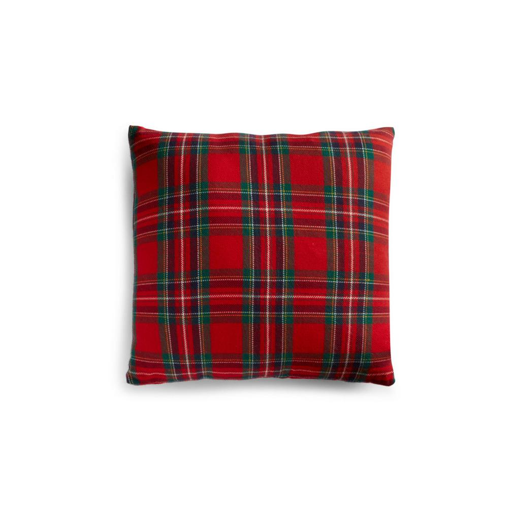 Traditional Check Cushion by Primark