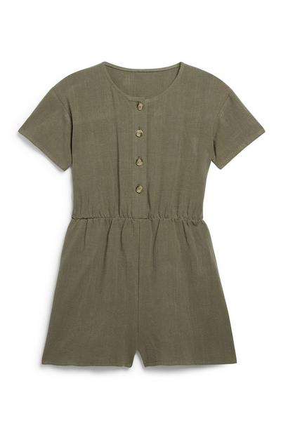 Older Girl Utility Playsuit